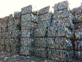 PET Bottles mixed colour baled or regrind